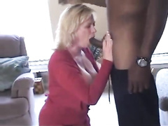 Big titted blonde cougar mom BBC cuckold
