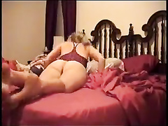 Housewife makes cuckold out of her husband being fucked by BBC